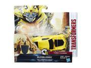 """Transformers: The Last Knight Turbo Changer 4.25""""""""Action Figure - Bumblebee"""" 9SIAD185S24988"""