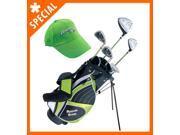Paragon Rising Star Junior Kids Golf Club Set Ages 8 10 Green LEFT Hand