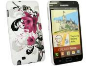 Kit Me Out USA Plastic Clip-on Case for Samsung Galaxy Note i9220 N7000 - Purple Bloom