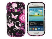 Kit Me Out US IMD TPU Gel Case for Samsung Galaxy S3 Mini i8190 (NOT FOR S3) - Pink Garden