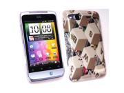 Kit Me Out USA Plastic Clip-on Case + Screen Protector with MicroFibre Cleaning Cloth for HTC Salsa - Qwerty Keyboard