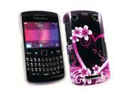 Kit Me Out USA Plastic Clip-on Case for BlackBerry 9350 9360 9370 3G Curve - Love Lagoon