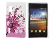 Kit Me Out USA Hard Clip-on Case + Screen Protector with MicroFibre Cleaning Cloth for LG Optimus L5 E610 - Pink Blossom