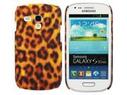 Kit Me Out USA Plastic Clip-on Case + Screen Protector with MicroFibre Cleaning Cloth for Samsung Galaxy S3 Mini i8190 (NOT FOR S3) - Brown Leopard