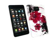 Kit Me Out USA Plastic Clip-on Case + Screen Protector with MicroFibre Cleaning Cloth for Samsung Galaxy S2 i9100 - Oriental Flowers