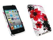 Kit Me Out USA TPU Gel Case for Apple iPod Touch 4 (4th Generation) - Oriental Flowers