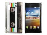 Kit Me Out US Hard Clip-on Case + Screen Protector with MicroFibre Cleaning Cloth for LG Optimus L5 E610 - Retro Cassette