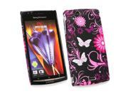 Kit Me Out USA Plastic Clip-on Case for Sony Ericsson Xperia Arc / Arc S X12 - Pink Garden
