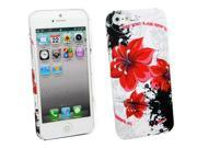 Kit Me Out USA Hard Clip-on Case + Screen Protector with MicroFibre Cleaning Cloth for Apple iPhone 5/ 5S - Multicoloured Oriental Flowers