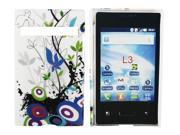 Kit Me Out USA Hard Clip-on Case + Screen Protector with MicroFibre Cleaning Cloth for LG Optimus L3 E400 - Country Garden