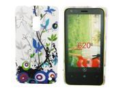 Kit Me Out US Hard Clip-on Case + Screen Protector with MicroFibre Cleaning Cloth for Nokia Lumia 620 - Country Garden
