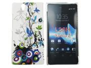 Kit Me Out US Hard Clip-on Case + Screen Protector with MicroFibre Cleaning Cloth for Sony Xperia Z - Country Garden