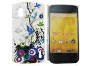 Kit Me Out USA Hard Clip-on Case + Screen Protector with MicroFibre Cleaning Cloth for LG Google Nexus 4 E960 - Country Garden