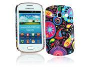 Kit Me Out USA Hard Clip-on Case + Screen Protector with MicroFibre Cleaning Cloth for Samsung Galaxy Fame S6810 - Multicoloured / Black Retro Mayhem