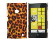 Kit Me Out US Hard Clip-on Case + Screen Protector with MicroFibre Cleaning Cloth for Nokia Lumia 525 - Brown Leopard