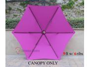 9ft with 6 Rib Patio Umbrella Replacement Cover Canopy Fuchsia 9SIA3H42TP6653