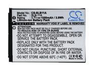 vintrons Replacement Battery For SAMSUNG HZ50, HZ50W, ST1000