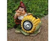 SINTECHNO Cute Gnome with Corn Statue Solar Light