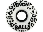 VENOM BALLS 70mm 80a WHT BLK Skateboard Wheels