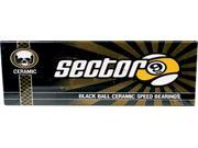 SECTOR 9 BLACK BALL CERAMIC RACE SKATE BEARINGS