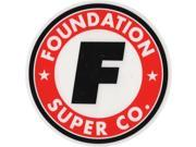 FOUNDATION SUPER CO CIRCLE F STICKER single
