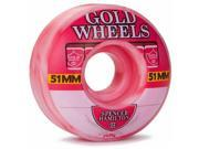 Gold Strawberry Sweets Hamilton Skateboard Wheels 51mm