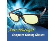 Duco Full Rim Ergonomic Advanced Computer Gaming Glasses with Amber Lens Tint Matte 80164Black 9SIA3J71N33549