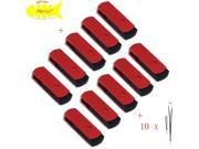 FEBNISCTE 4GB USB 2.0 Flash Drive -Pack of 10 Red Swivel Flash Disk
