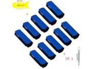 FEBNISCTE 10 Pack Blue Euro Style Swivel 4GB USB 2.0 Memory Stick