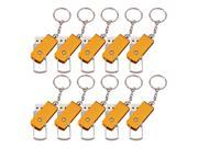 FEBNISCTE Bulk Pack of 10 Gold 4GB USB2.0 Flash Drive with All-metal Casing and Keychain Design