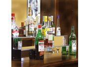 34-inch 2 Tier Liquor Bottle Shelf - Mirror Finish