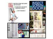 Magnetic Mesh Screen Doors - Heavy Duty Mesh & Velcro Fits Doors, 12 Months Warranty
