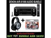 Denon AVR-X1000 Receiver, Sennheiser HD201 Headphones Bundle