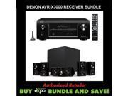 Denon AVR-X3000 In-command 7.1-Channel 4K Ultra HD Networking Home Theater Receiver, Plus Klipsch HDT-600 Home Theater Speaker System