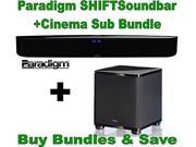 Paradigm SHIFT Series Soundscape Full Powered Soundbar with apt-X Bluetooth + Paradigm Cinema Sub