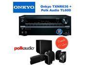 Onkyo TX-NR636 7.2-Channel Network A/V Receiver + Polk Audio 5.1 TL1600 Speaker System