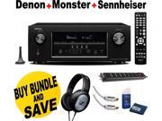 Denon AVR-S910W 7.2 Channel Receiver + Sennheiser Headphone + Monster Home Theather Bundle