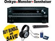 Onkyo TX-NR747 7.2-Channel Network + Sennheiser Headphone + Monster Home Theather Bundle