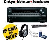 Onkyo TX-NR545 7.2-Channel A/V Receiver + Sennheiser Headphone + Monster Home Theather Bundle