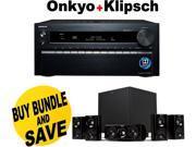 ONKTXNR1030BND5 Onkyo TX-NR1030 9.2-Ch Dolby Atmos Ready Network A/V Receiver  + Speakers Bundle