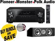 PIOVSX1130KBND18 Pioneer VSX-1130-K 7.2-Channel AV Receiver with Built-In Blue + Speakers Bundle