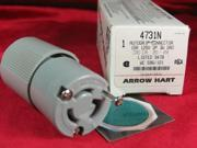 Cooper Arrow Hart, 4731N, 15A, 125V, 2 Pole, 3 Wire Grounding, Locking Connector, NEMA L5-15R