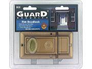"Guard Security, 505, Surface Mounted, Rim Deadlock, 1"" Bolt, Bronze Finish"