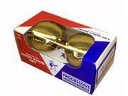 "Progressive, 2600, Polished Brass US3, 2-1/4"" Solid Brass Door Knob Set With Spindle For Marks Surface Mount Mortise Lockset & More"