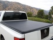 Tonnomax 1997-2004 Dodge Dakota Std Ext Cab 6.4' Truck Bed Soft Trifold Tonneau Cover Premium Leather Vinyl Clamp Lock Black TC13TCA665