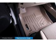MAXFLOORMAT All Weather Custom Floor Mats Liner Set for F-150 SUPER CREW (Tan)