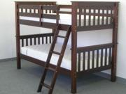 Bunk Bed Twin over Twin Mission Cappuccino
