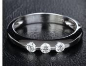 orgeous 3 Channel Diamonds Stones 14k White Gold Anniversary Wedding Band Ring