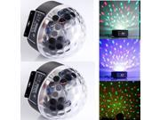 2 X DMX512 RGB Crystal Magic Ball Stage Lighting Effect Light Digital LED Display