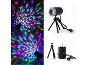 3W Colorful LED Crystal Rotating RGB Stage Light Lamp DJ Disco Voice-activated 9SIV05727M9352